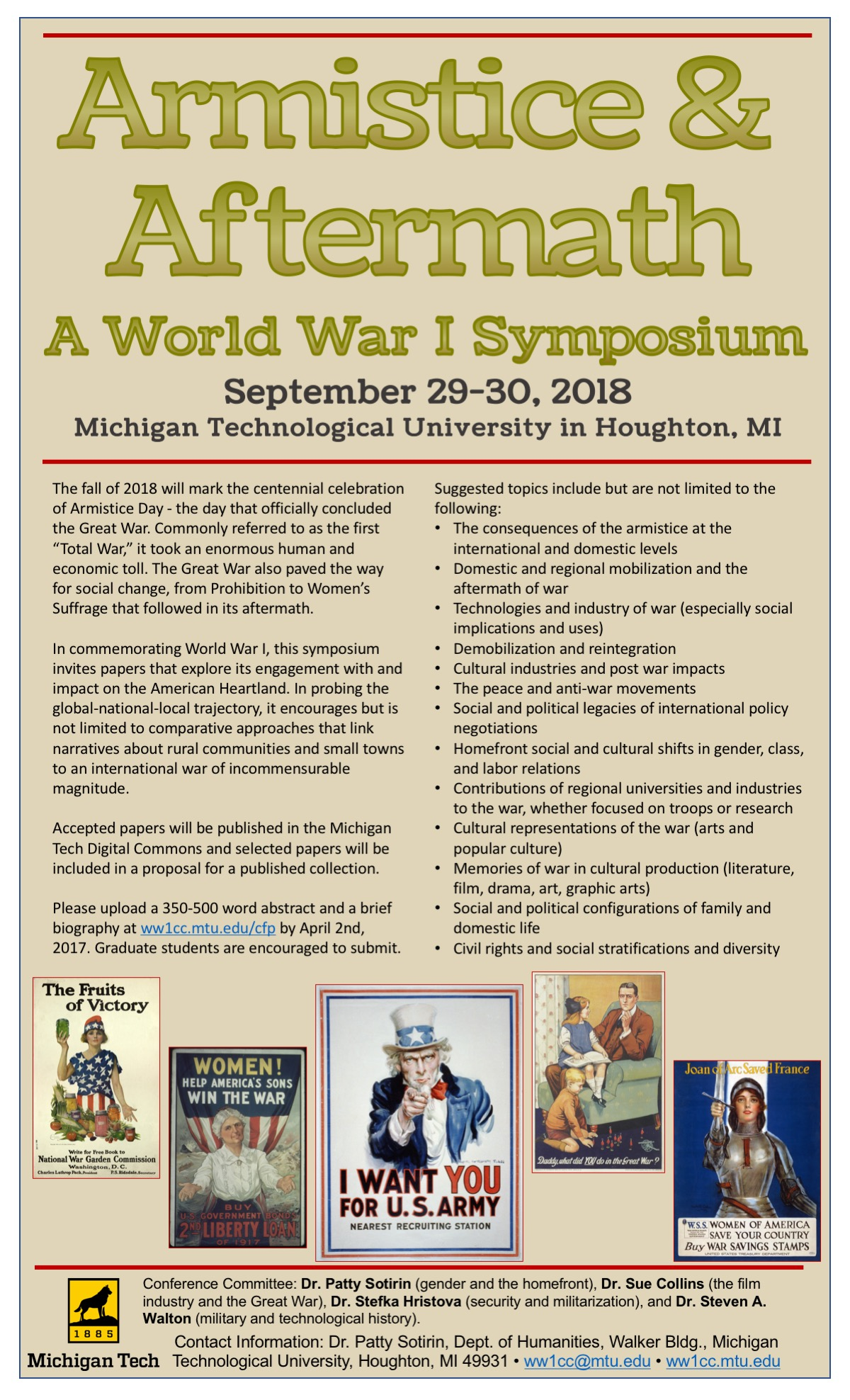 Symposium – World War One & the Copper Country