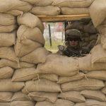 A Marine at the Sandbags